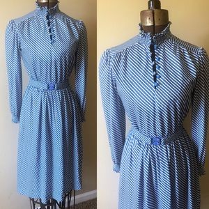 Dresses & Skirts - Vintage 1980s striped day dress